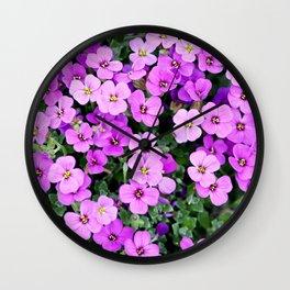 Blue pillow garden plant purple Wall Clock