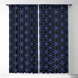Flower of Life Pattern – Blue on Black Blackout Curtain