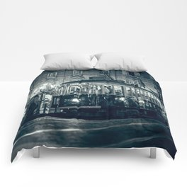 Vintage night in Turin Comforters