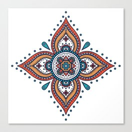 Mandala Seamless Pattern Design Canvas Print