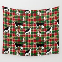 hunting Wall Tapestries featuring Hunting Tartan by Vannina