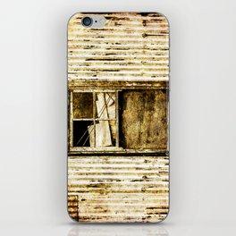 Window in a tin wall iPhone Skin