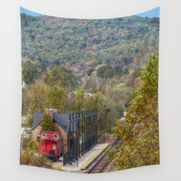 Train Station Wall Tapestry