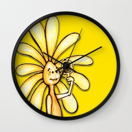 """Yellow"" Color Chakra Flowerkid Wall Clock"