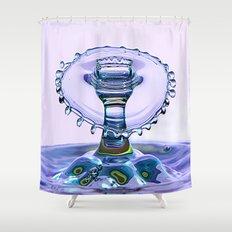 water crown Shower Curtain