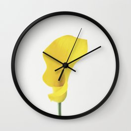 Yellow Calla Lily Wall Clock