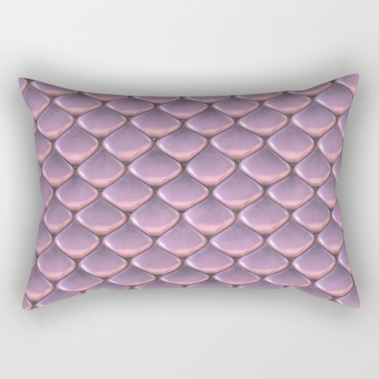 Pink Snake Skin mermaid scales Rectangular Pillow