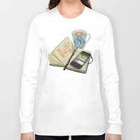 internet Long Sleeve T-shirts featuring Internet Addict by Sally Renshaw