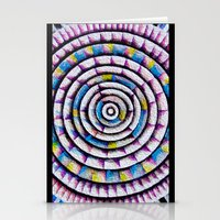 fibonacci Stationery Cards featuring 12 Rings of Fibonacci by Todd Huffine