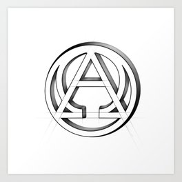 Alpha and Omega Symbol. From beginning to end Art Print