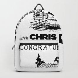 Chris D'elia Congratulations Podcast Log Cabin Backpack