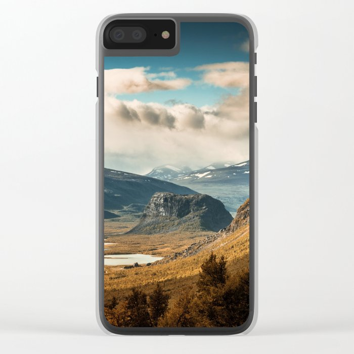 Brown Mountain Clear iPhone Case