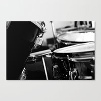 drums Canvas Prints featuring Drums by Jazzy Cheveres