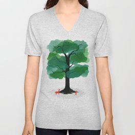 Man & Nature - The Tree of Life Unisex V-Neck