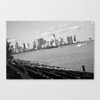 miami Canvas Prints featuring miami by dgpmiami