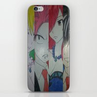 fairy tail iPhone & iPod Skins featuring Fancy Fairy Tail Arrangement One by X21DaysOfMoonX