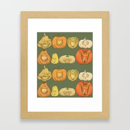 Pumpkin Patch Framed Art Print