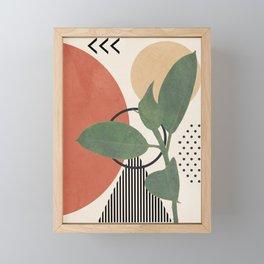Nature Geometry III Framed Mini Art Print