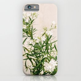 White oleander on Elba Island | Italy | Travel Photography | Art Print |Botanical Photo iPhone Case