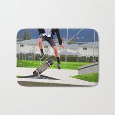 Missed Opportunity  - Skateboarder Bath Mat