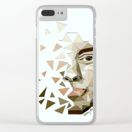 Abstract Face Clear iPhone Case