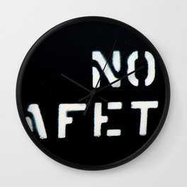 NO SAFETY Wall Clock