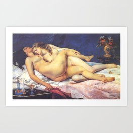 The Sleepers - Gustave Courbet Art Print