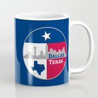 dallas Mugs featuring Dallas Texas Skyline by Bruce Stanfield