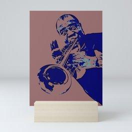Society6 100 Elements Of Louis - Louie - Daniel Armstrong Satchmo - Satch - Pops - Pop Sketch-Art 78 Mini Art Print