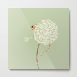 Little Green Mouse 1 Metal Print