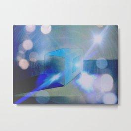"""The Magical Blue Square"" Metal Print"