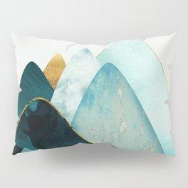 Gold and Blue Hills Pillow Sham