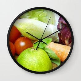 Fresh Vegetables - Restaurant or Kitchen Decor Wall Clock