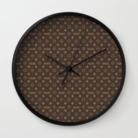 lv Wall Clocks featuring Fake LV by Rui Faria