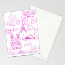 Pink Paris Stationery Cards