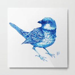 Blue sparrow Metal Print