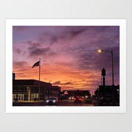 Sunset in Seaside Art Print