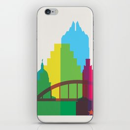 Shapes of Austin. Accurate to scale. iPhone Skin