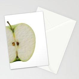 Half green apple Stationery Cards