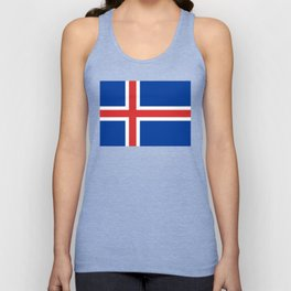 Flag of Iceland - High Quality Image Unisex Tank Top