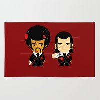 pulp Area & Throw Rugs featuring pulp fiction by sEndro
