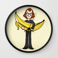 Woody's Banana Wall Clock