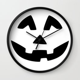Cute Jack O'Lantern Face Wall Clock