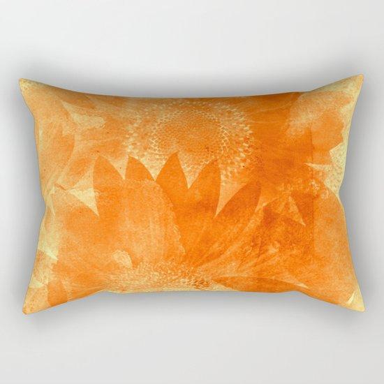 faded sunflowers Rectangular Pillow