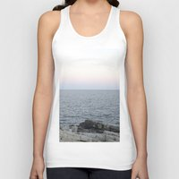maine Tank Tops featuring Maine Coast by AlanW