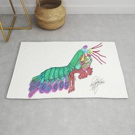 Mantis shrimp Rug