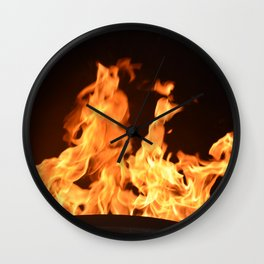 Flame on Wall Clock