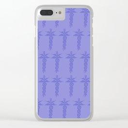 Medical ID Print (Blue) Clear iPhone Case