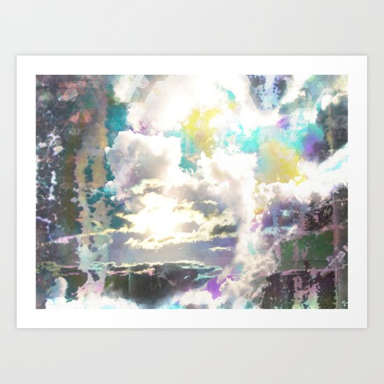 Prism Bubble Bursting Art Print