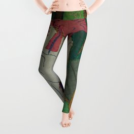 Bird on textures and patterns Leggings